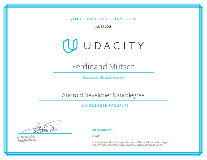 My experiences with the Android Developer Nanodegree